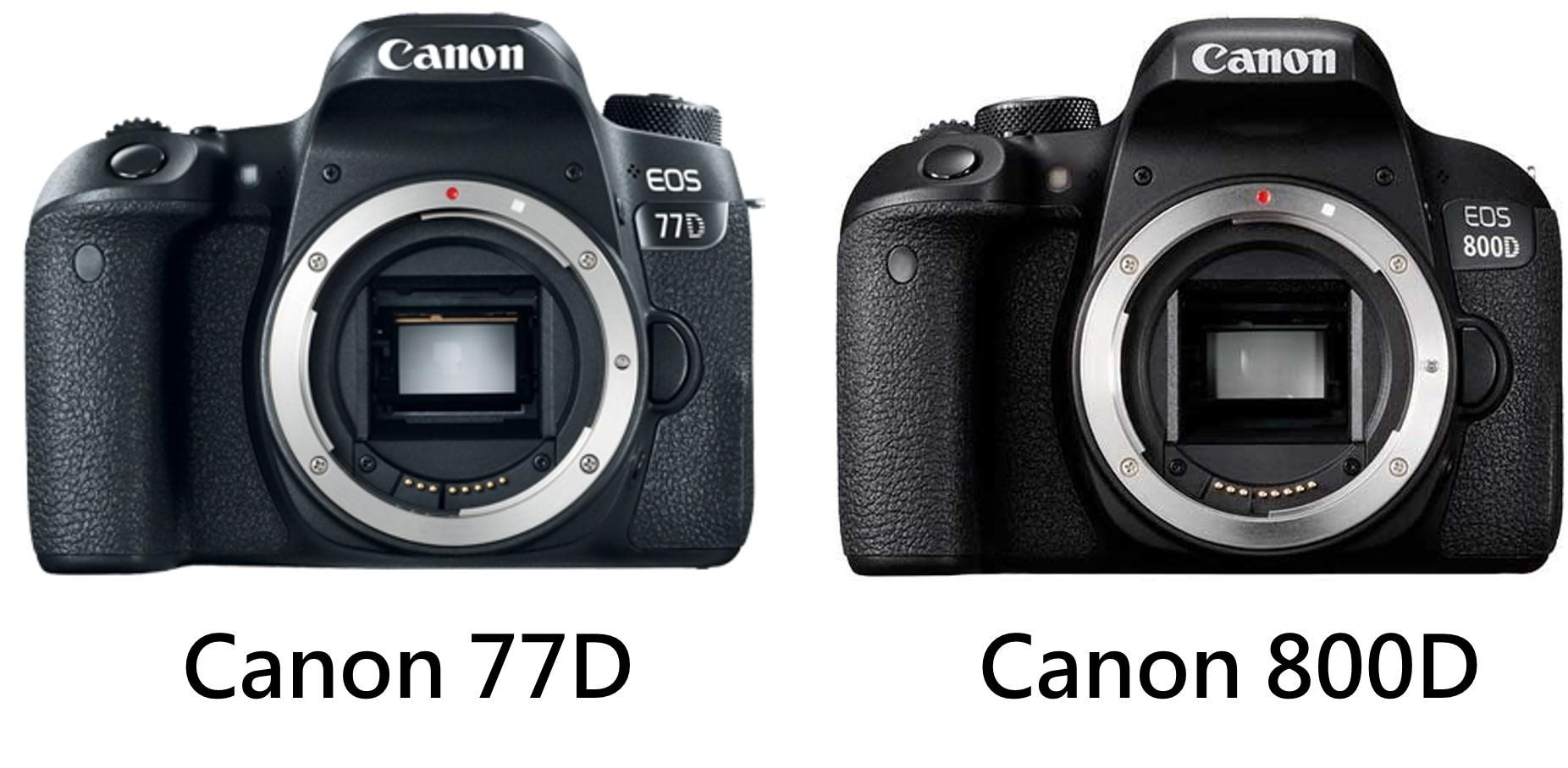 Canon 80D 與 77D