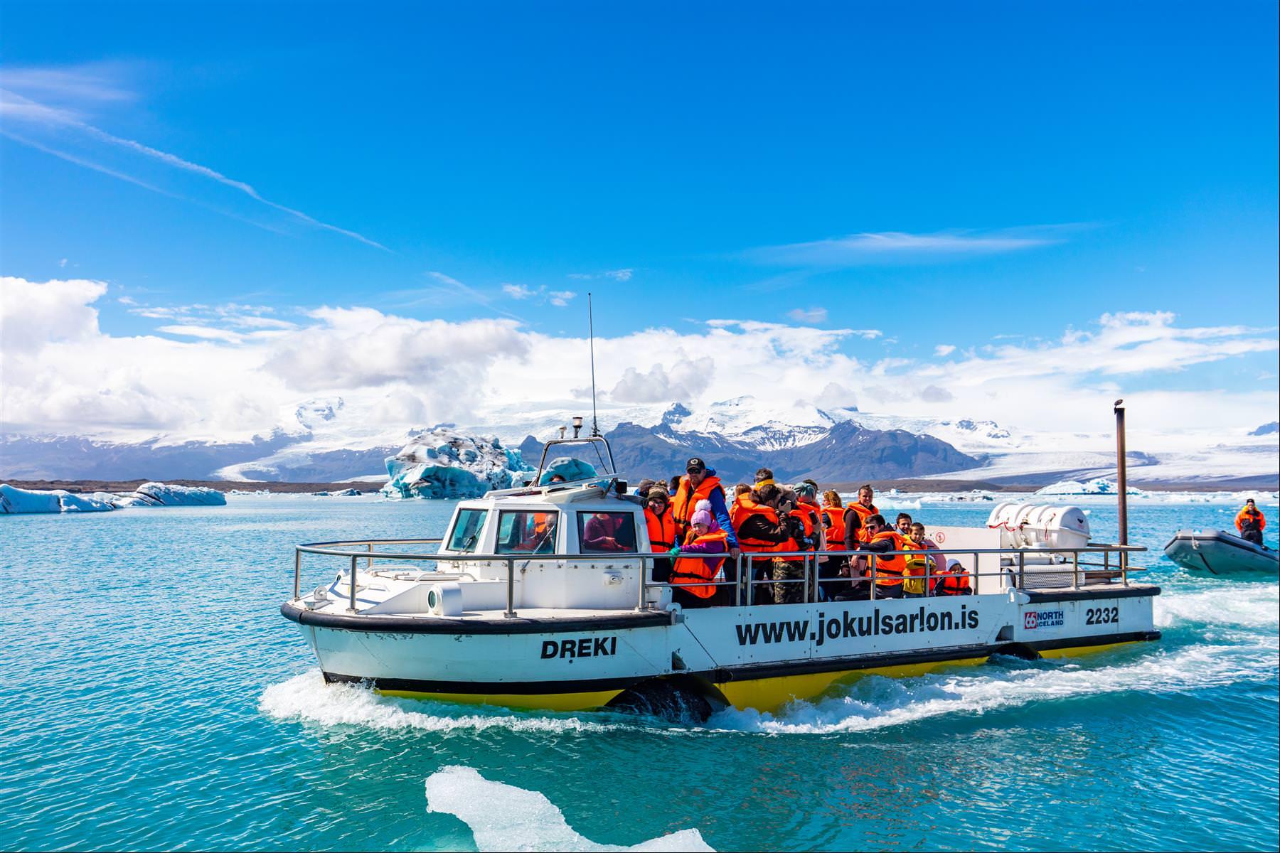 傑古沙龍冰河湖遊船
