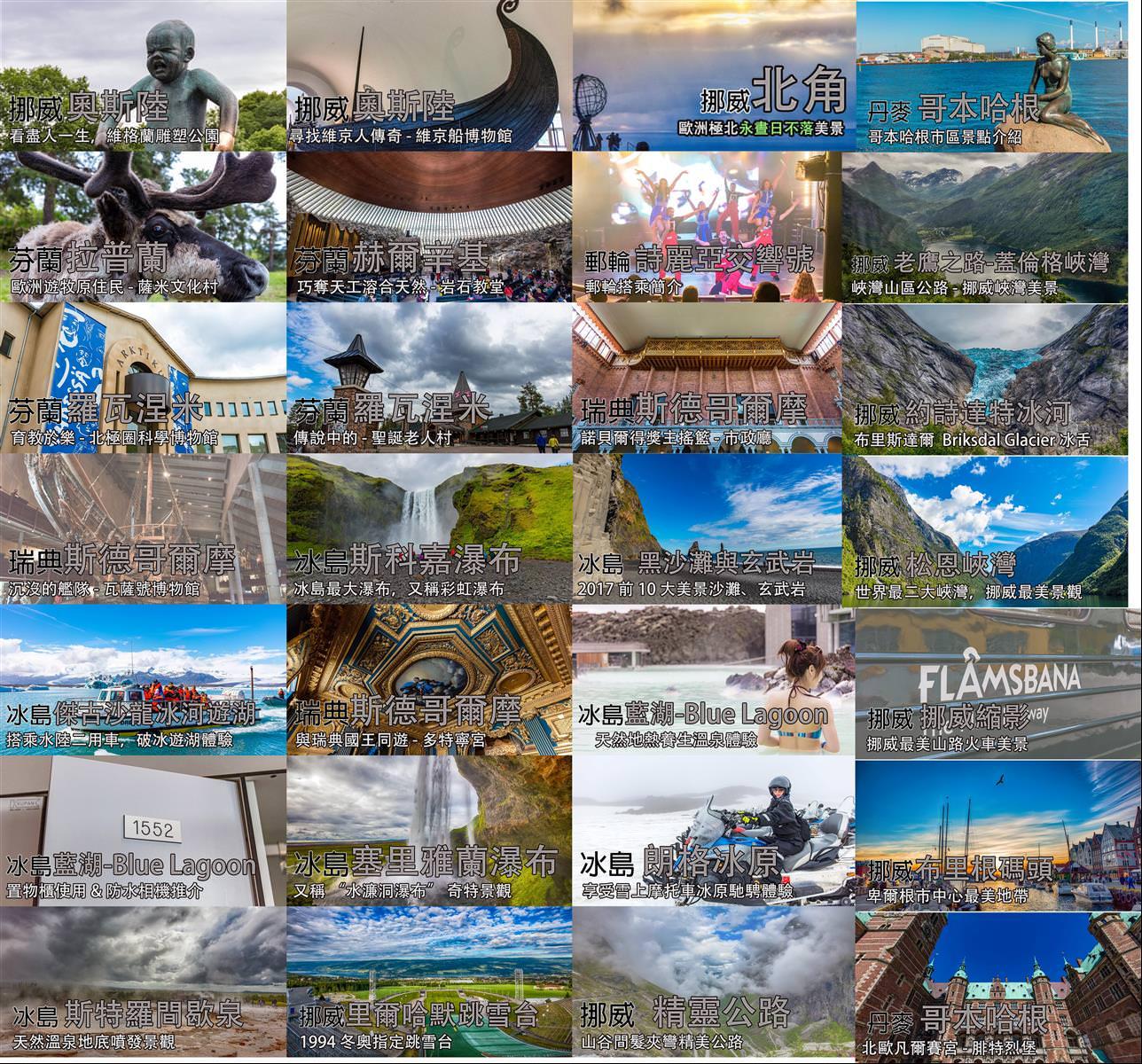 北歐五國景點行程