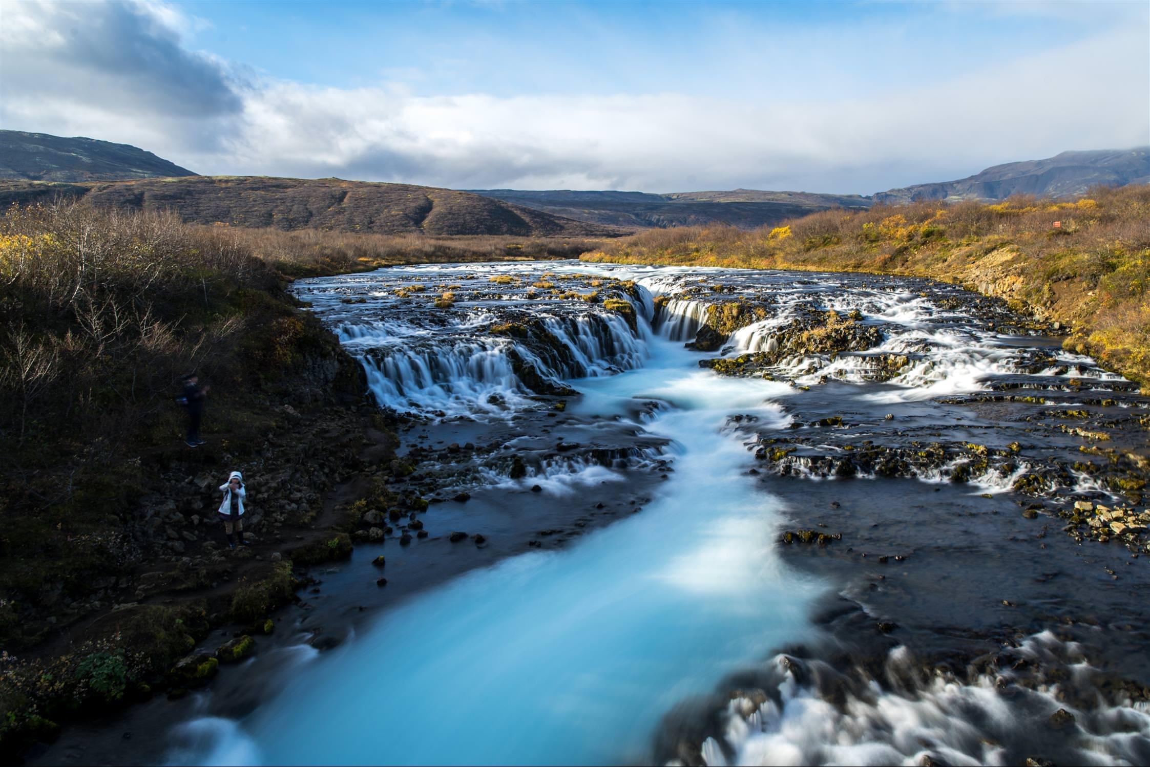 Bruarfoss Waterfall 藍色秘境瀑布