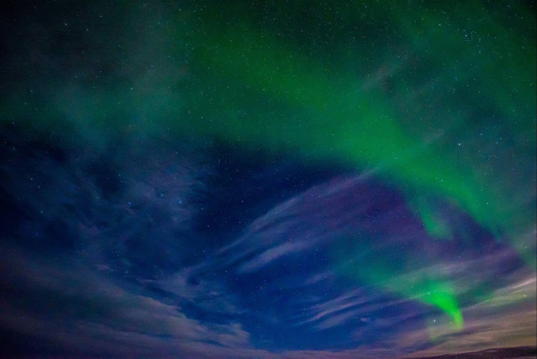 去冰島拍極光帶什麼相機