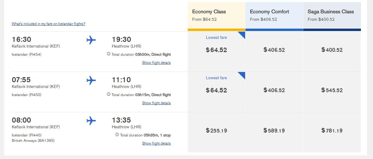 冰島航空訂票