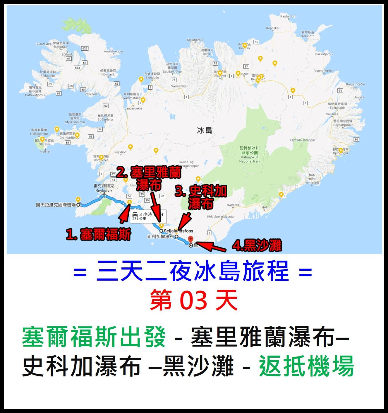 冰島 3 天 2 夜行程規劃