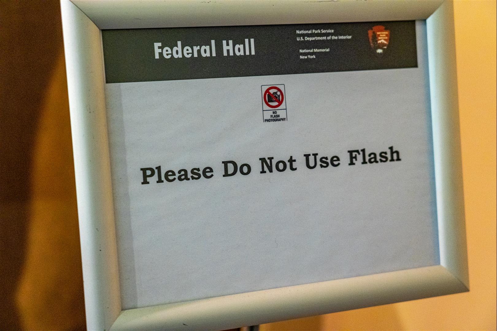 禁止使用閃光燈