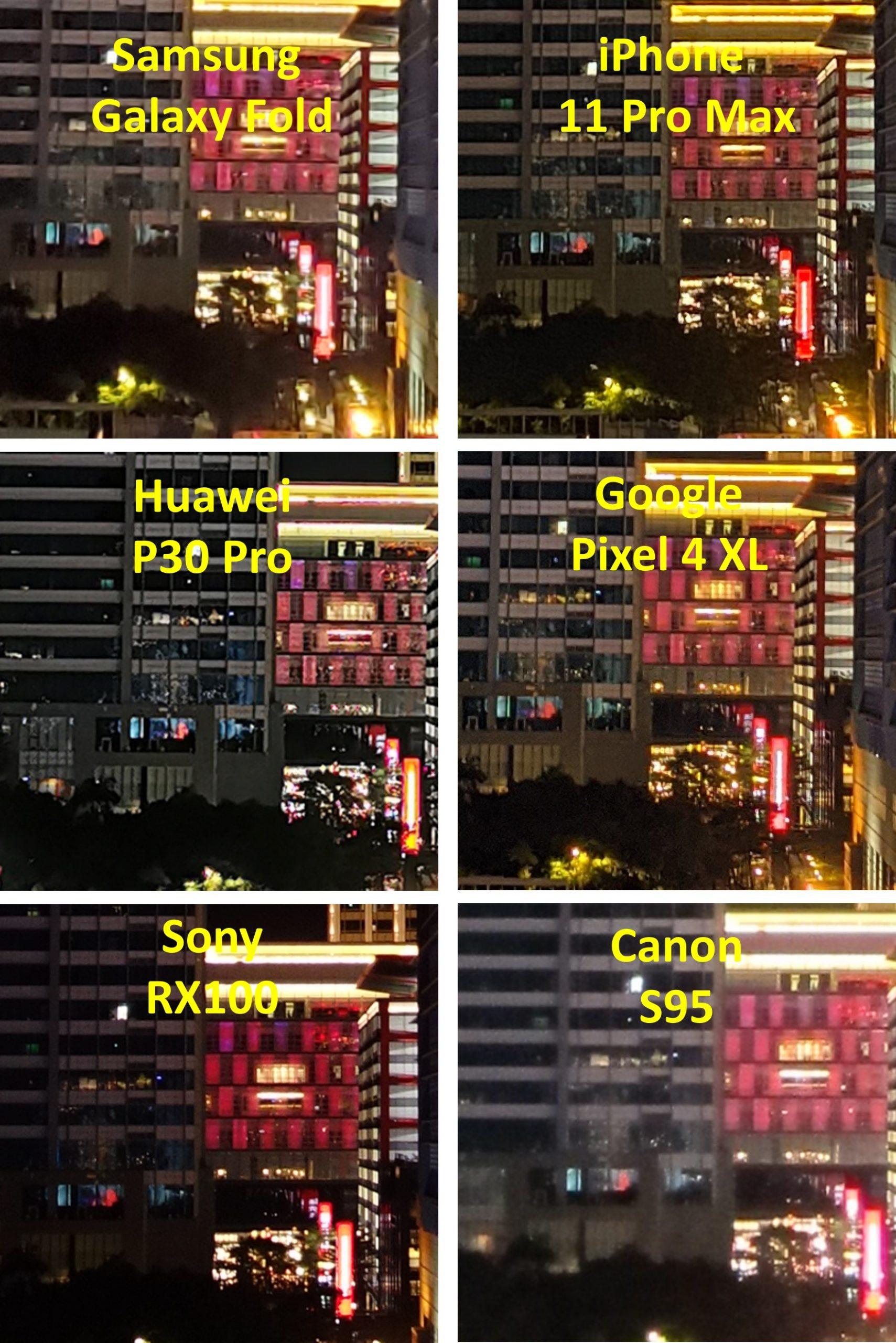 手機夜拍比較
